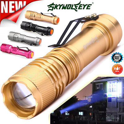 5000LM Q5 AA/14500 3 Modes ZOOMABLE LED Flashlight Torch Super Bright Lamp