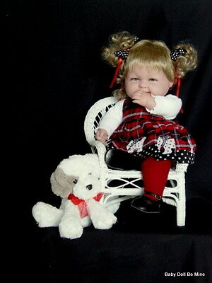 "New 18 "" Berenguer Baby Doll ~ makeover ~ in Adora Polka Dot Doggies  ~ Extras"