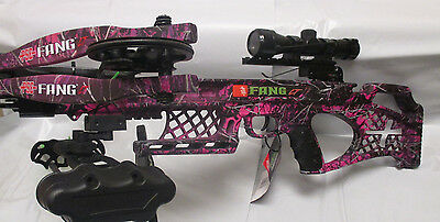 NEW 2018 PSE Fang LT Pink Muddy Girl Moonshine Camo Fang Crossbow complete pkg