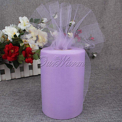 "1pc Lilac Tulle Roll 6""x100Yd For Wedding Party Tutu Table Skirt Gift Wraps DIY"