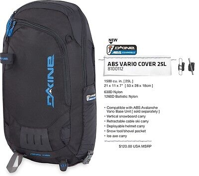 NEW Dakine ABS 25L Black Vario Backpack Cover Backcountry Msrp$140