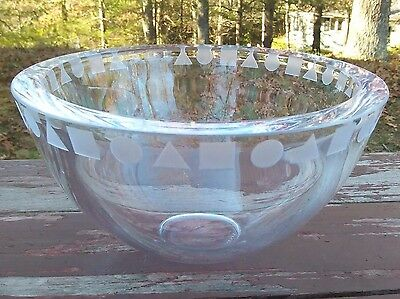 Sasaki Crystal - Sengai - Modernist Bowl - Ward Bennett - Japan