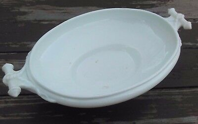 JOHN MADDOCK & SONS - ANTIQUE IRONSTONE FOOTED BOWL - ROPE HANDLES (no lid)