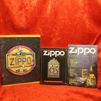 3 Zippo 95,97,98 Miniature  Lighter Collection Catalog Books