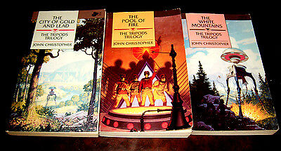3 books in The Tripod trilogy by John Christopher
