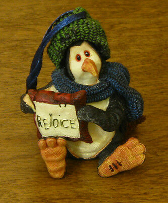 Boyds Resin Ornament #25806 WALK COLDFIN...REJOICE From Retail Store TUXEDO GANG