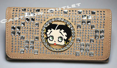 Betty Boop Wallet Birthday Mothers Day Gift Christmas Original Light Brown New