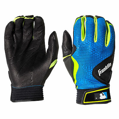 Franklin Freeflex Adult Baseball/Softball Batting Gloves - Black/Blue - XL