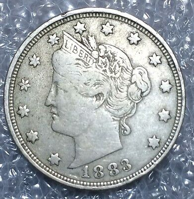 1883 5C With CENTS Liberty Nickel