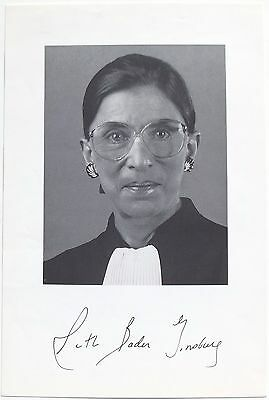 Associate Justice Ruth Bader Ginsburg Signed Photograph U.S Supreme Court