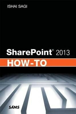 SharePoint 2013 How-to by Ishai Sagi Paperback Book (English)