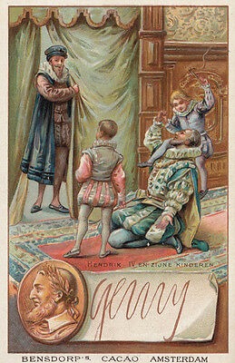 Henry VI 6 Printed Signed Bendorps Drink Cocoa Postcard Antique Trade Card