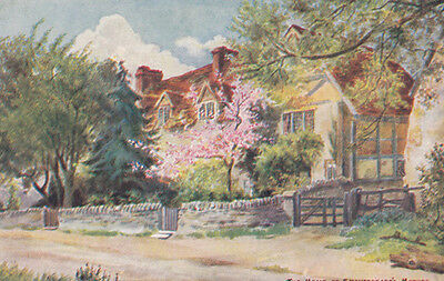 William Shakespeares Mothers Home Shakespeare in Summer Antique Postcard