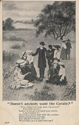 Doesnt A Lady Fancy Desire A Vicar Priest Curate Songcard Comic Humour Postcard