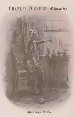 Miss Betsy Trotwood  Charles Dickens Vintage Collectors Postcard