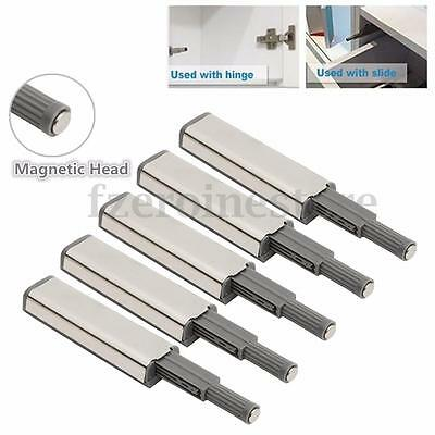 5Pcs Cabinet Door Drawer Push to Open System Damper Buffer Catch Latch Magnetic