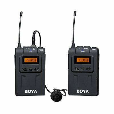 Boya BY-WM6 UHF Lavalier Microphone Transmitter ENG EFP f Canon Sony DSLR Camera