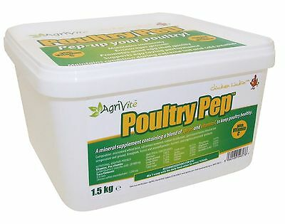 1.5KG  Agrivite -Poultry Pep for Chickens & all poultry, Spice & Vitamin powder