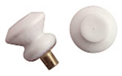 Dolls House 6 Round White Drawer Door Knobs Fittings Spare Parts 1:12 Scale