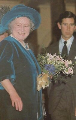 Queen Mother Prince Charles Visit College Of Music Royal Postcard