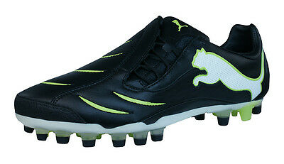 Puma PowerCat 2.10 Synth Grass Mens Leather Football Boots / Cleats - Black
