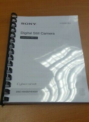 Sony Cybershot Hx400/v Camera Printed Instruction Manual User Guide 40 Pages A5