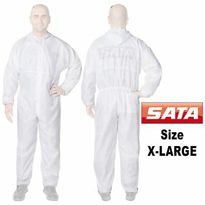 Genuine Sata 129445 X-Large [XL] White Paint Overalls Elasticated Wrists/Ankles