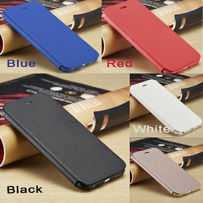 Ultra Slim Genuine PU Leather Flip Case Wallet Cover for Apple iPhone 5 6 6Plus