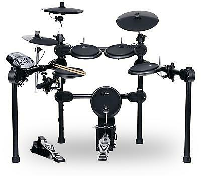 Digital E-Drum Set elektronisches Schlagzeug Drumkit Rack Fussmaschine USB MIDI