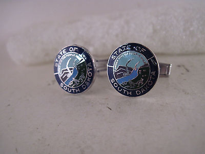 South  Dakota   State Seal cloison logo cufflinks--