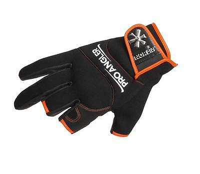 Guanti Gloves Pro Angler 3 Cut Size Xl Orange Norfin Fishing Pesca Spinning