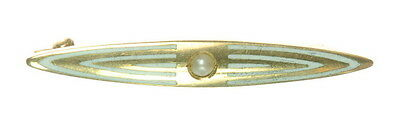 Ladies 14K Yellow Gold Seed Pearl Pin Estate Brooch J248318