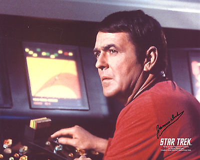 Star Trek TOS Autograph 8x10 James Doohan/Scotty (LHAU-967)