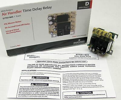 White Rodgers 57T01-843 Air Handler Timer Delay for 57T01-001