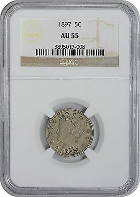 1897 Liberty Nickel AU55 NGC Almost Uncirculated 55