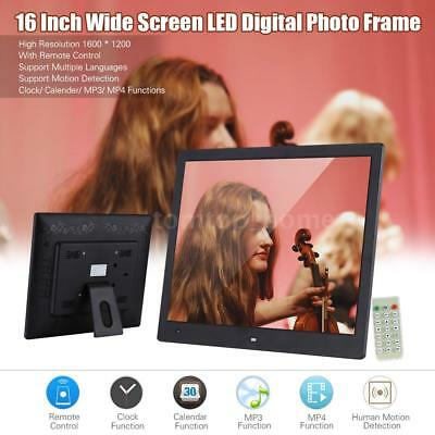 """16""""inch HD LED Digital Photo Frame Picture MP4 Movie Video Player Remote Control"""