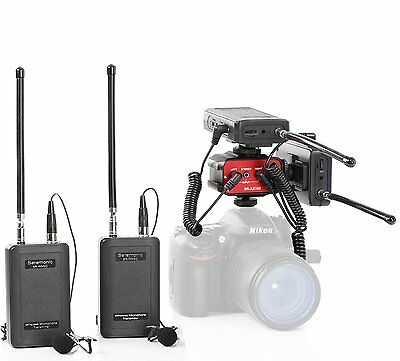 Saramonic Dual Wireless VHF Lavalier Microphone Bundle 2 TX / 2 RX + Audio Mixer