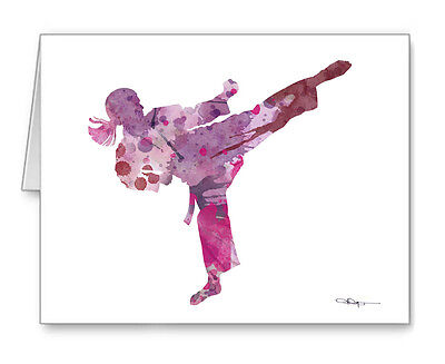 KARATE GIRL Note Cards With Envelopes