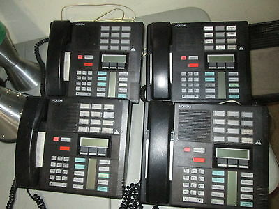 Lot of 4 Nortel M7310 Display Phone NT8B20 Black FREESHIP