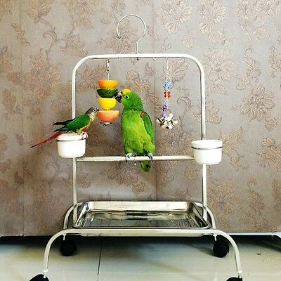Birds Foraging Toys Stainless Steel Parret Food Feeder Pet Cage Funny Accessory