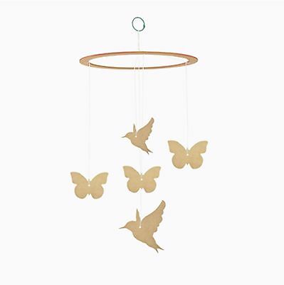 Kaisercraft BTP - Butterfly & Birds Baby Mobile - Unfinished MDF/Wooden/Wood