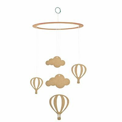Kaisercraft BTP - Up In The Clouds Baby Mobile - Unfinished MDF/Wooden/Wood