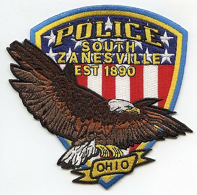 SOUTH ZANESVILLE OHIO OH Flying Eagle POLICE PATCH