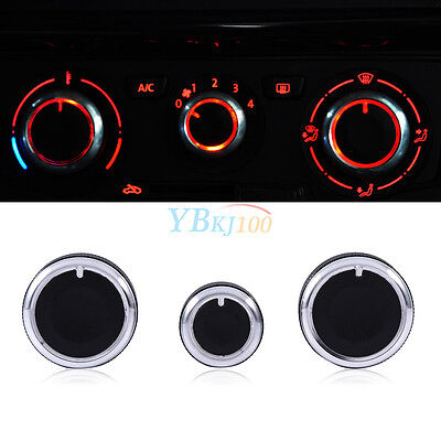 3x Auto Heater Knobs A/C Switch Buttons Control Cover For VW Golf MK4 Passat B5