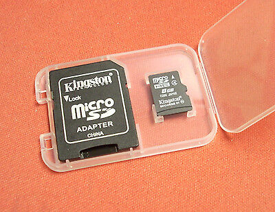 Kingston Class 4, 8GB MICRO SD MicroSD SDHC microSDHC high speed for GOPRO etc.