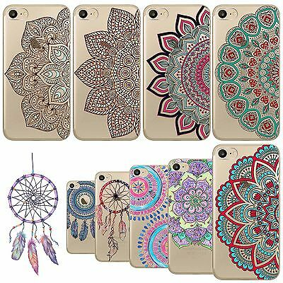 Beautiful Floral Paisley Mandal Flowers patterns Soft Clear Mobile phone Cover