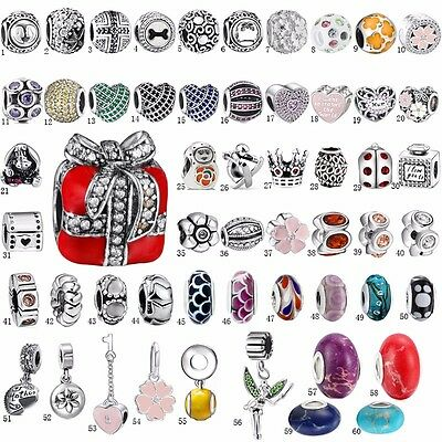 Silver Charm Collections Beads Pandent dangle FIT S925 Bangle Bracelets Chain k