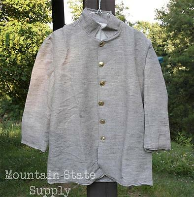 """Tag=36 Chest=46"""" US Civil War Confederate South Army Jean Wool Sack Coat Jacket"""