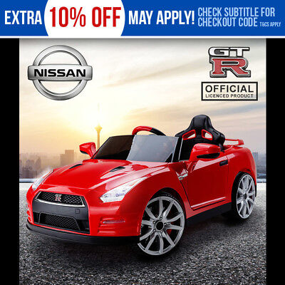 Kids Ride-On Electric Car Nissan GTR Licensed - GT-R Children Toy Sports Red