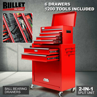NEW BULLET 1200 Piece Tool Cabinet Trolley Chest Toolbox Metric Tool box Kit Set